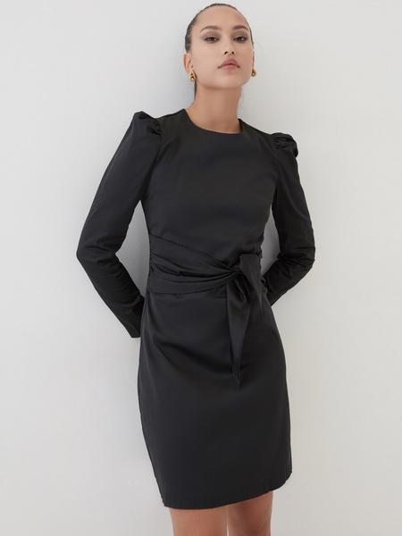 Платье с поясом на талии - фото 1