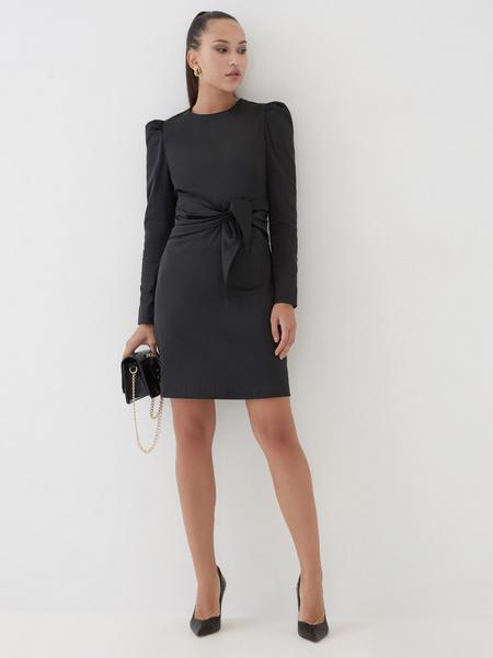 Платье с поясом на талии - фото 2