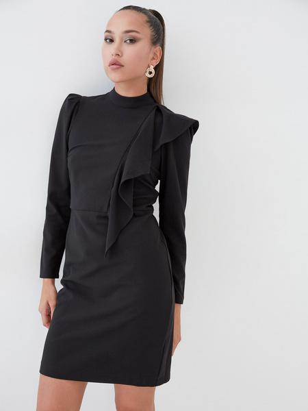 Платье с воланом на плече - фото 1