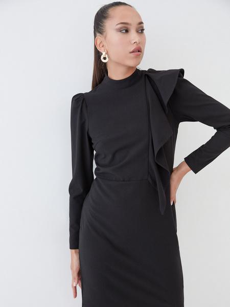 Платье с воланом на плече - фото 3
