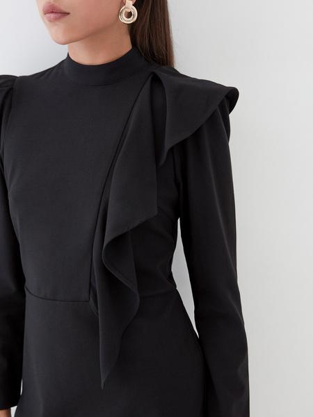 Платье с воланом на плече - фото 4