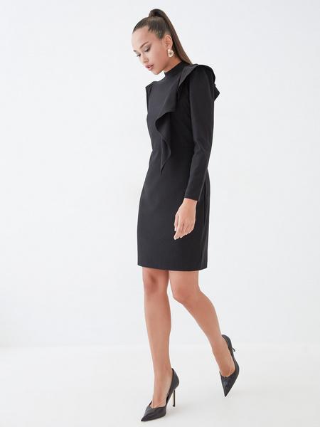 Платье с воланом на плече - фото 5