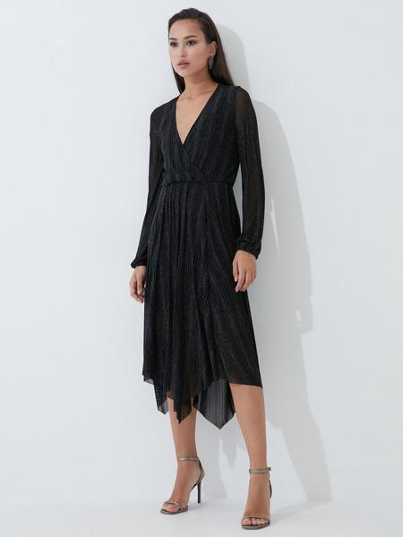Платье А-силуэта с сияющей нитью - фото 1