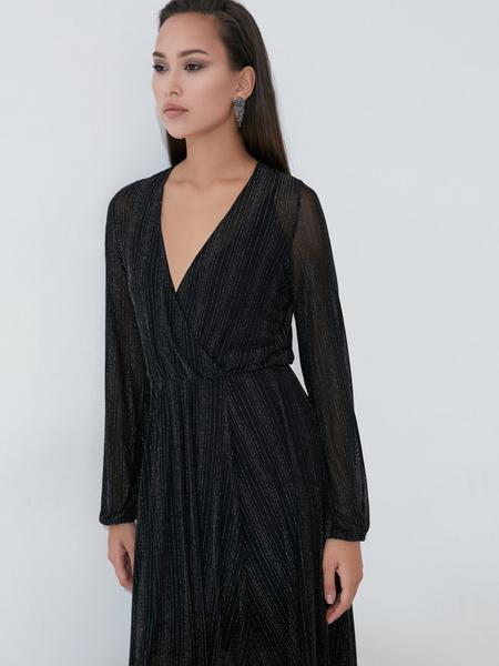 Платье А-силуэта с сияющей нитью - фото 2