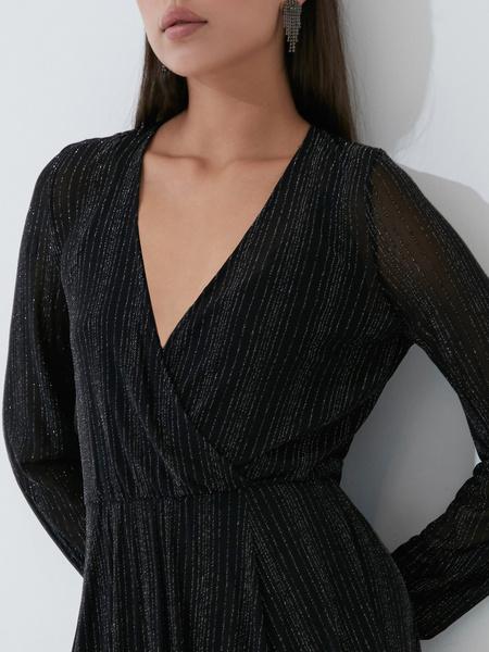 Платье А-силуэта с сияющей нитью - фото 3