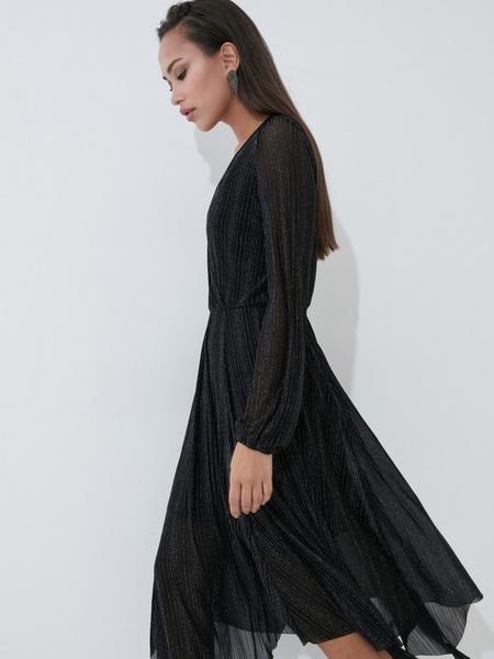 Платье А-силуэта с сияющей нитью - фото 4