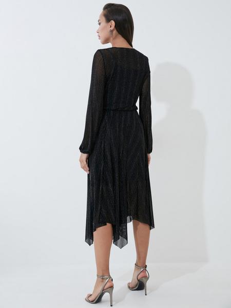 Платье А-силуэта с сияющей нитью - фото 5