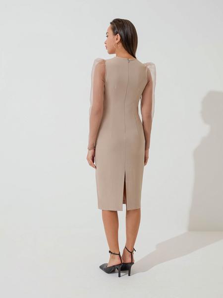 Платье с прозрачными рукавами - фото 5