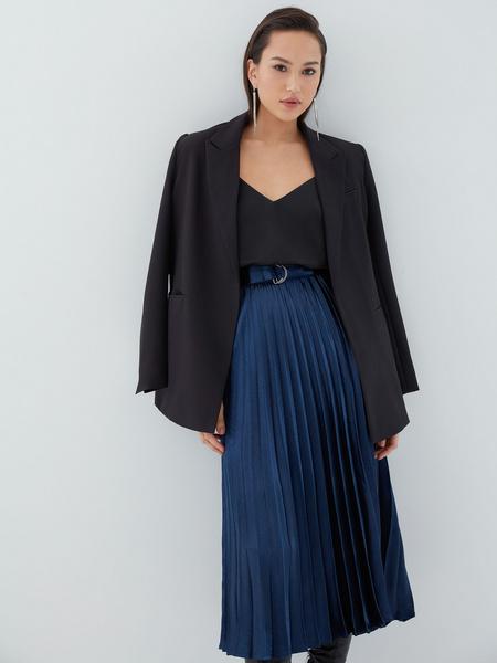 Плиссированная юбка с поясом - фото 1