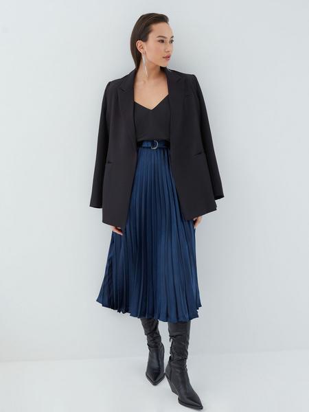 Плиссированная юбка с поясом - фото 2