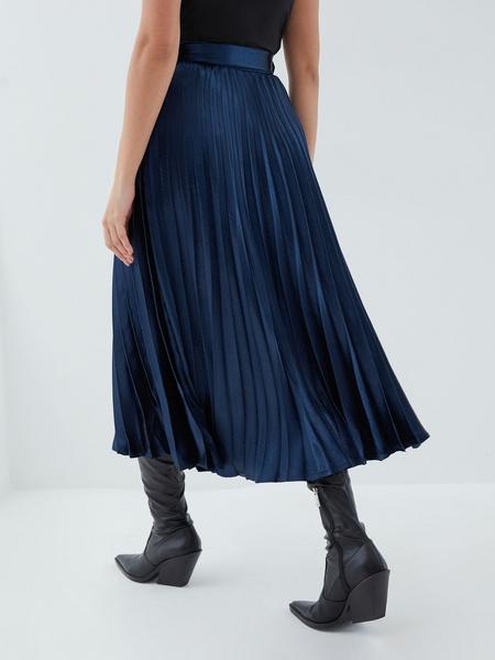 Плиссированная юбка с поясом - фото 6