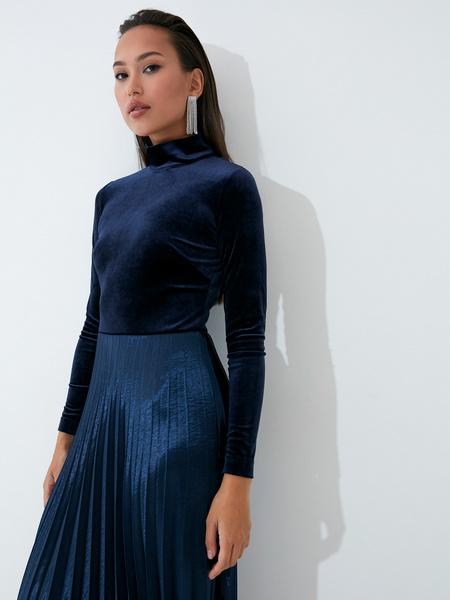 Бархатное платье - фото 5