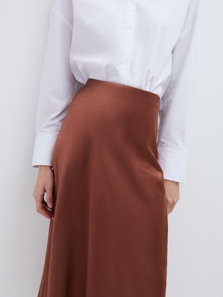 Струящаяся атласная юбка - фото 3