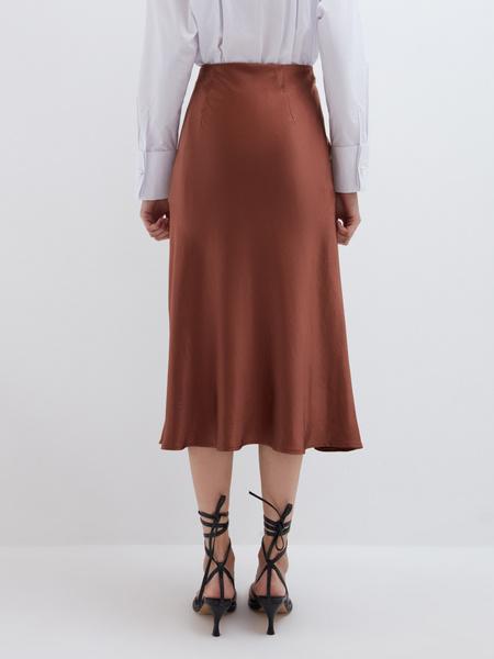 Струящаяся атласная юбка - фото 5