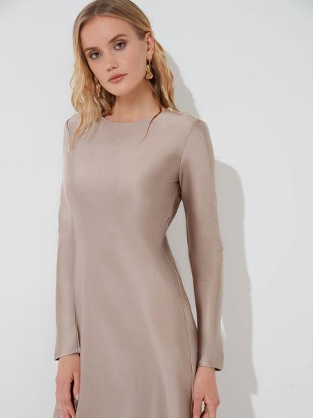 Атласное платье-миди - фото 2