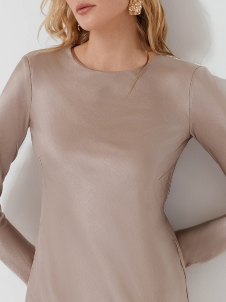 Атласное платье-миди - фото 3