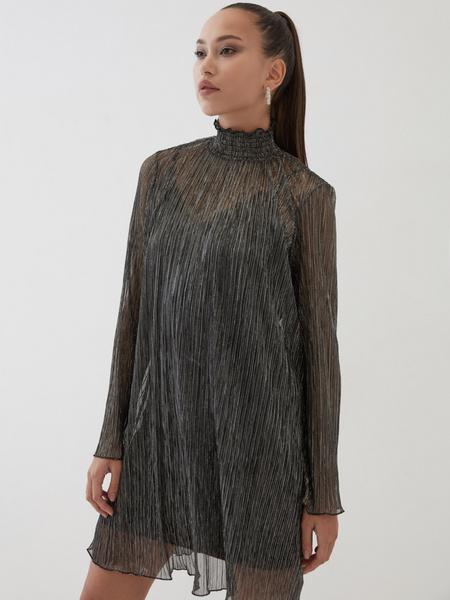 Платье с люрексом - фото 1