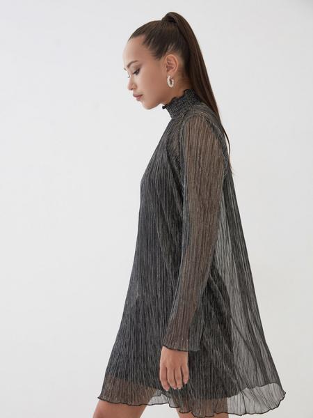 Платье с люрексом - фото 4