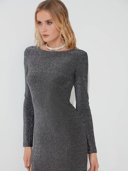 Мерцающее платье с разрезом - фото 2