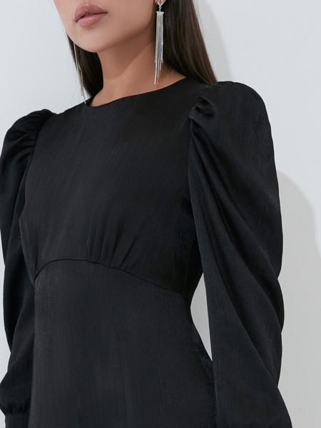 Атласное платье с высокой талией - фото 3