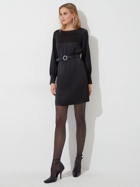 Атласное платье - фото 1