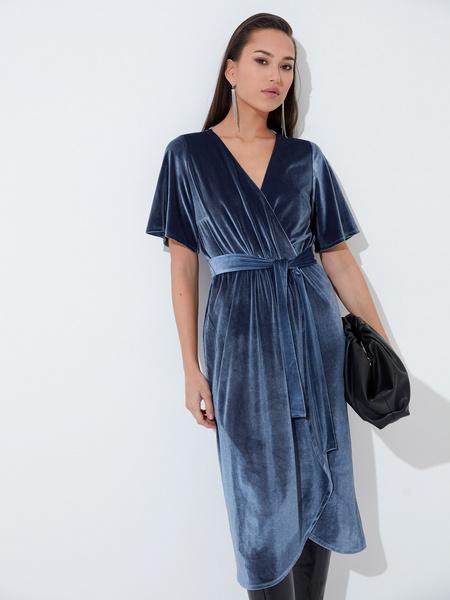 Платье с рукавом флаттер