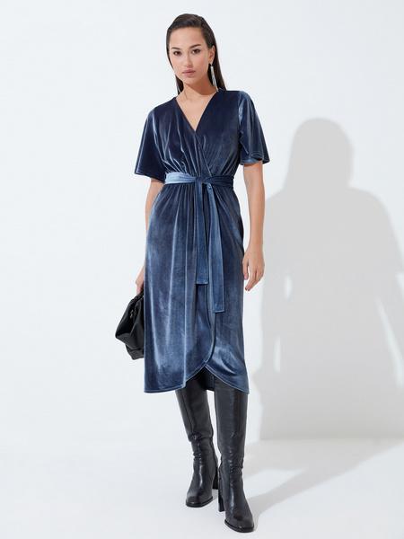 Платье с рукавом флаттер - фото 2