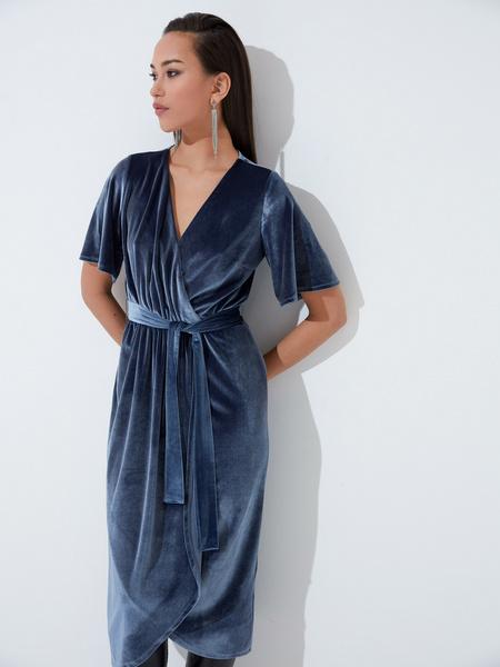 Платье с рукавом флаттер - фото 4