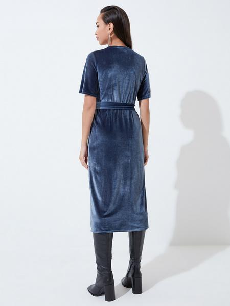 Платье с рукавом флаттер - фото 5