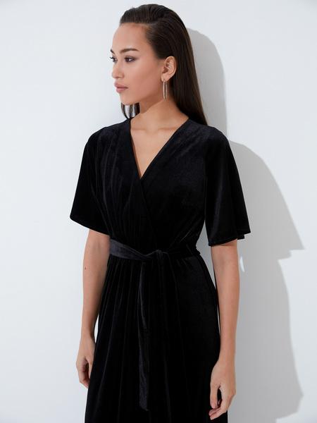 Платье с рукавом флаттер - фото 3