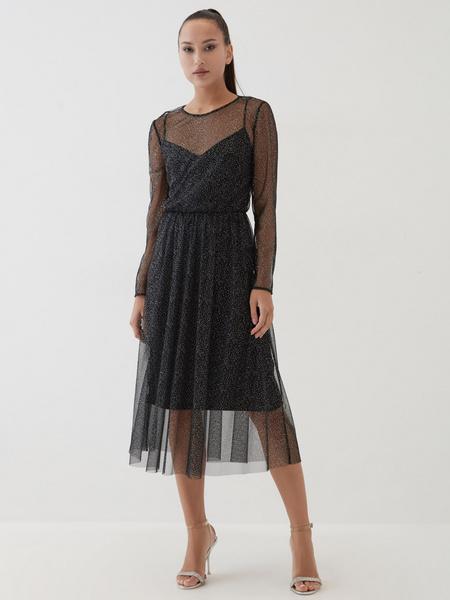 Платье с сияющим напылением - фото 1