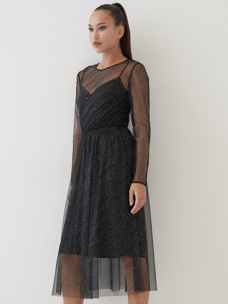 Платье с сияющим напылением - фото 2