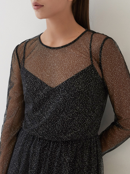Платье с сияющим напылением - фото 3