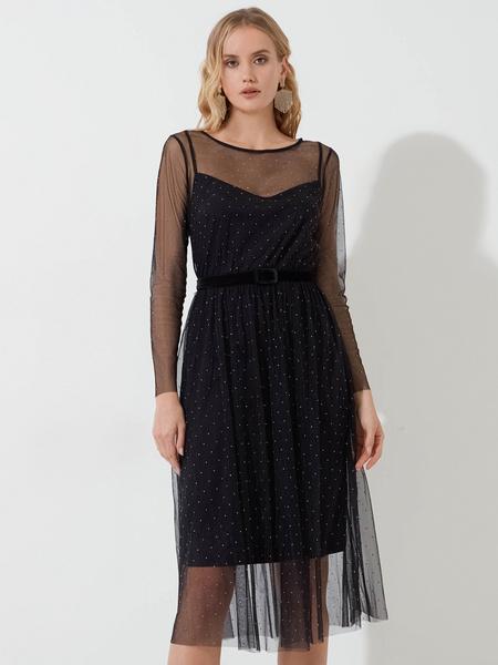 Платье со стразами - фото 1