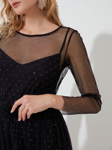 Платье со стразами - фото 3