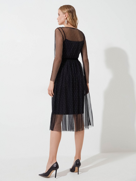 Платье со стразами - фото 4