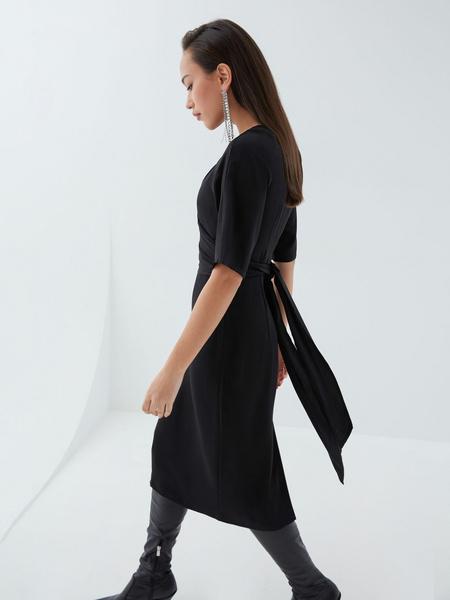 Платье с перекрученным лифом - фото 5