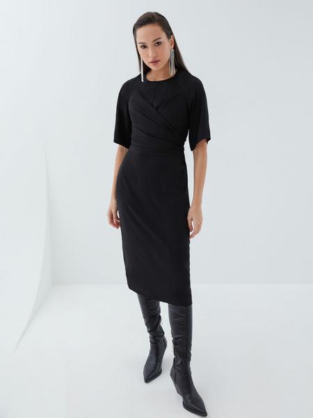 Платье с перекрученным лифом - фото 7