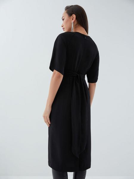 Платье с перекрученным лифом - фото 8