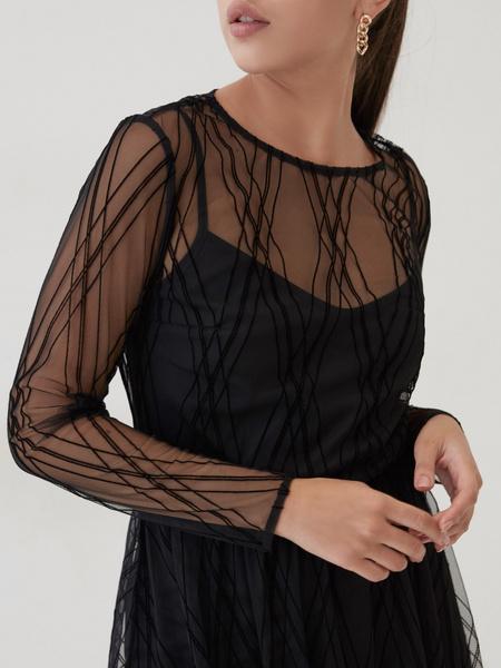 Сетчатое платье-миди - фото 3