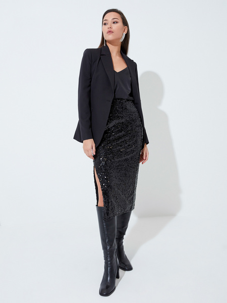 Облегающая юбка с пайетками - фото 1