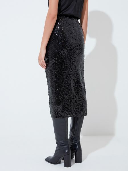 Облегающая юбка с пайетками - фото 5