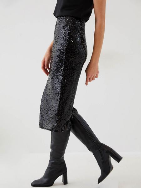 Облегающая юбка с пайетками - фото 6