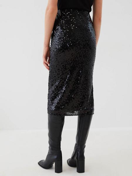 Облегающая юбка с пайетками - фото 7