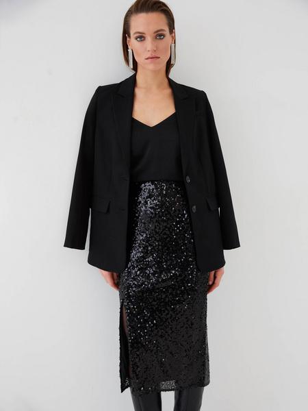 Облегающая юбка с пайетками - фото 8