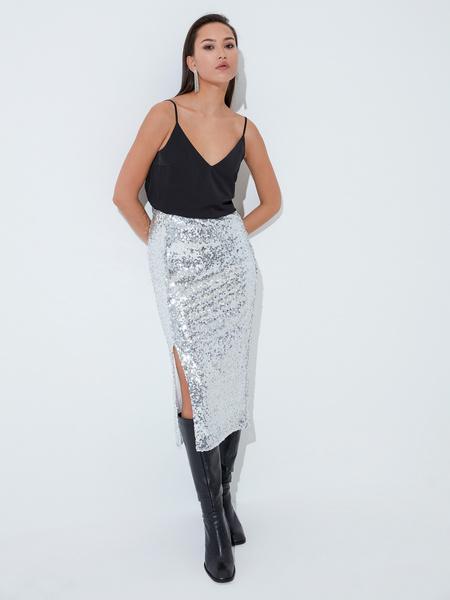 Облегающая юбка с пайетками - фото 2