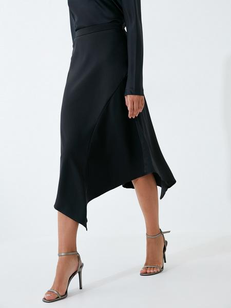Струящаяся атласная юбка - фото 2