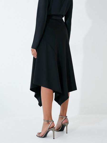 Струящаяся атласная юбка - фото 4