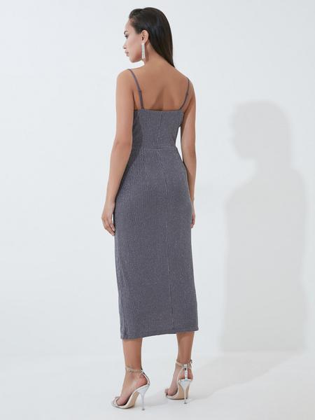 Платье с мерцающей нитью - фото 4