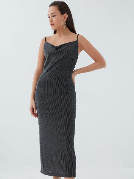 Платье с мерцающей нитью - фото 5